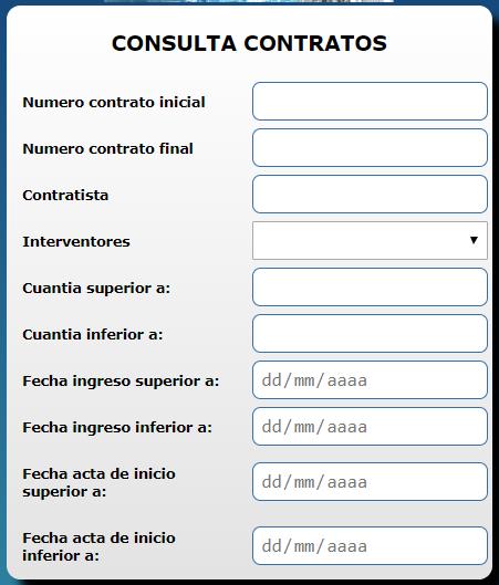 Consulta de contratos